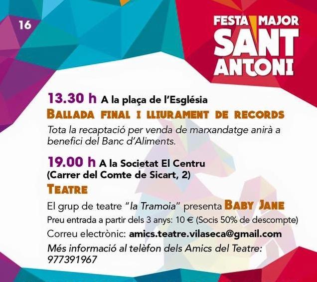 Programa de Festa Major de Vila-seca 2016